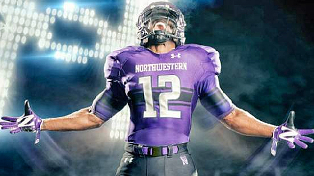 Northwestern may be one of the smarter schools, but you wouldn't know it from their new unis. (Under Armour)