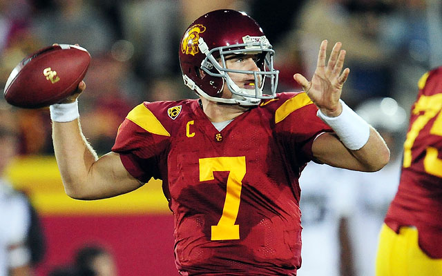 Matt Barkley and USC will once again do battle with Oregon for the conference title. (US Presswire)