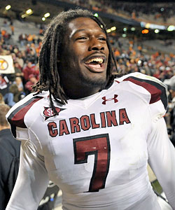 Jadeveon Clowney returns as one of the best defensive linemen in the conference. (US Presswire)