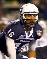 Chuckie Keeton and Utah State will be looking for another bowl bid. (US Presswire)