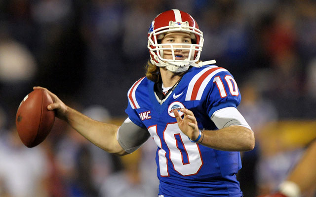 Senior Colby Cameron hopes to lead Louisiana Tech to another WAC title. (US Presswire)