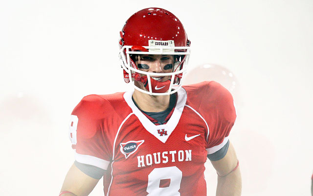 Quarterback David Piland will attempt to replace Case Keenum at Houston. (US Presswire)