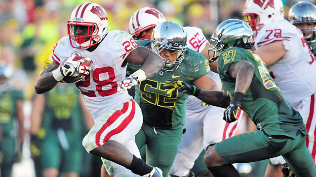 With Heisman finalist Montee Ball back, and a manageable schedule, Wisconsin is the favorite. (US Presswire)