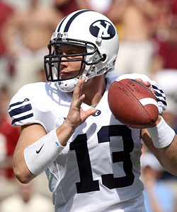 No quarterback issue at BYU where Riley Nelson returns for his senior season. (US Presswire)