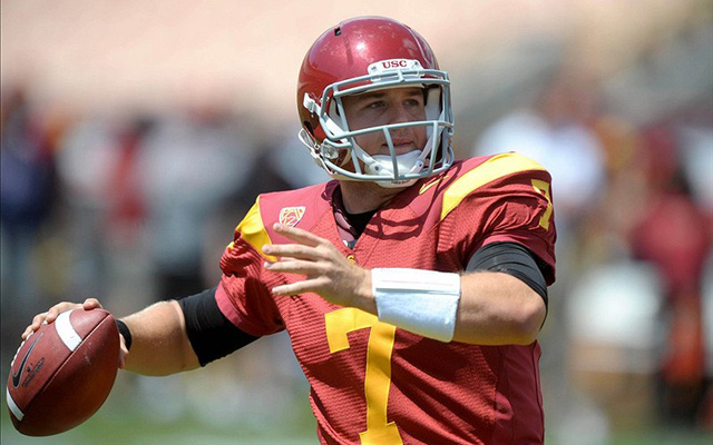 Matt Barkley will have plenty of marquee games to impress voters. (U.S. Presswire)