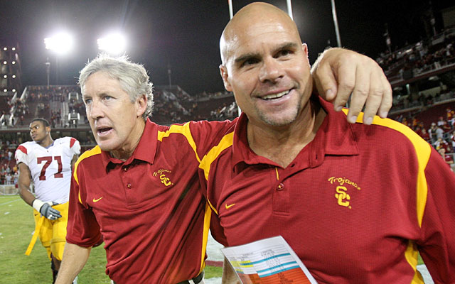 Nick Holt was Pete Carroll's DC at Southern Cal before taking the same job at Washington. (Getty Images)