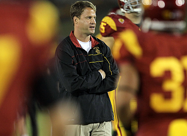 Kiffin has helped lead USC back atop the rankings after two years of probation. (Getty Images)