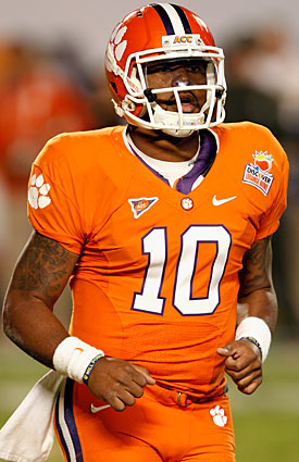 Tajh Boyd won't have his top receiving threat as Clemson opens against Auburn. (Getty Images)