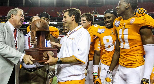 The Vols win at the Georgia Dome for the first time since the title season of 1998. (US Presswire)