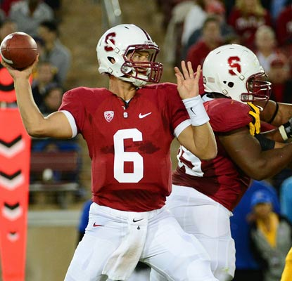 Stanford's Josh Nunes makes his first start in place of Andrew Luck, throwing for 125 yards and a touchdown.  (US Presswire)