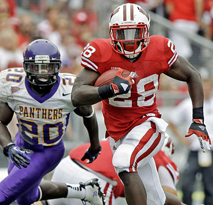 Montee Ball helps Wisconsin avoid a stunning upset, rushing for 120 yards and a touchdown.  (AP)