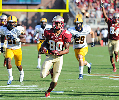 Florida State's Rashad Greene returns a punt for a TD in the Seminoles' win over Murray State.  (US Presswire)