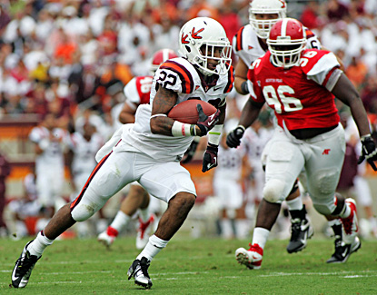 Virginia Tech running back Tony Gregory runs for a touchdown in the second half against Austin Peay. (US Presswire)