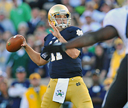 Tommy Rees comes off the bench, makes some key passes and puts the Irish in position to kick the game-winning field goal. (US Presswire)