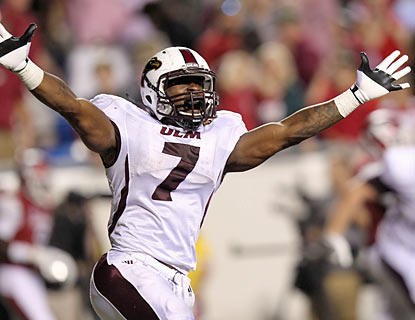 Running back Jyruss Edwards and the Warhawks march into Little Rock and earn their first win over an SEC team since 2007. (US Presswire)