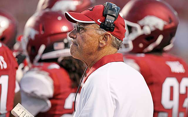 John L. Smith's Razorbacks take the plunge from No. 8 to unranked. (US Presswire)