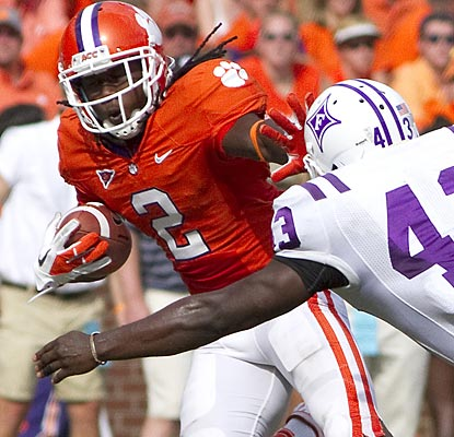 Sammy Watkins catches four passes for 52 yards and rushes once -- for a 58-yard TD -- in his first game of the season.  (US Presswire)