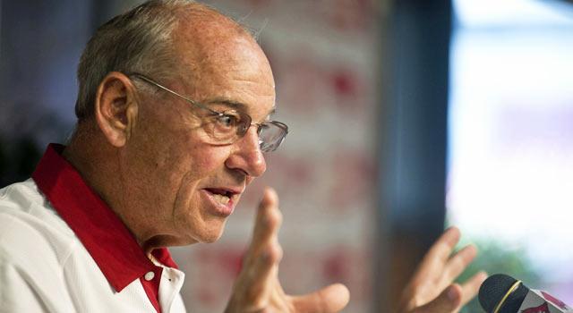 Coach John L. Smith should be safe at Arkansas through the season. (US Presswire)