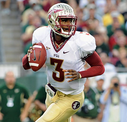EJ Manuel doesn't explode statistically against USF, but he still finishes with 242 passing yards and a touchdown. (Getty Images)