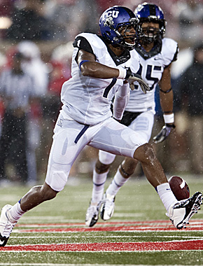 A miserable offensive day didn't stop TCU's D, which picked SMU five times to help get a win. (Getty Images)
