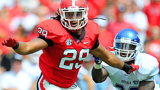 Signs point to Jones being a top-10 pick in next year's NFL Draft. (US Presswire)