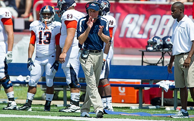 Larry Coker coached UTSA to its first WAC win last week over New Mexico State. (Getty Images)