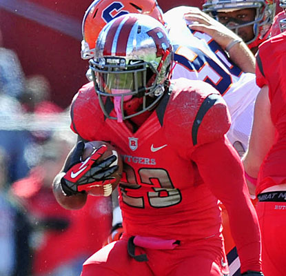 Jawan Jamison contributes a 1-yard TD run as Rutgers becomes bowl eligible for the seventh time in eight seasons.  (US Presswire)