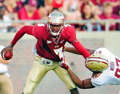 EJ Manuel throws for a career-high 439 yards and four touchdowns against Boston College. (Getty Images)