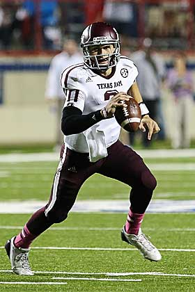 Johnny Manziel leads Texas A&M to 59-57 win over Louisiana Tech. (US Presswire)