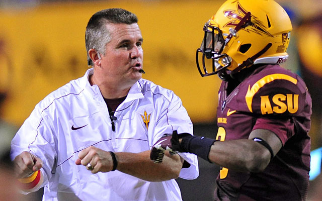 Todd Graham has reined in Arizona State's penalty-prone players during his first season. (US Presswire)