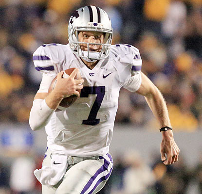Collin Klein throws for a career-high 323 yards and three TDs and also adds four more scores on the ground. (AP)