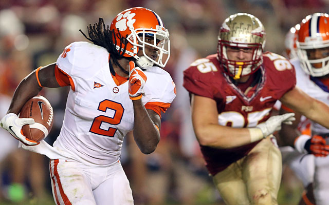 Clemson and Florida State have elite skill players, like explosive Tigers receiver Sammy Watkins. (Getty Images)