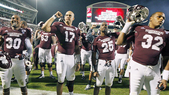 Undefeated Mississippi State can really gain national attention if it can knock off Alabama this weekend. (AP)