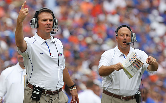 Urban Meyer's coaching staff at Florida produced several head coaches, including Steve Addazio. (US Presswire)