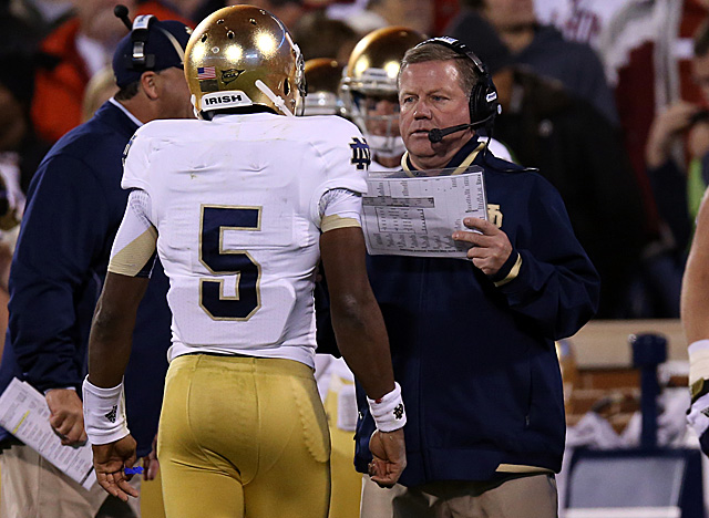 In his third year at the helm of Notre Dame, Brian Kelly has the Irish where fans want them. (US Presswire)