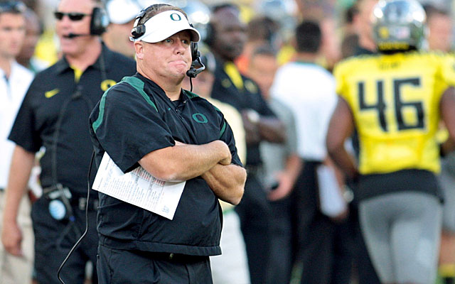 Chip Kelly and Oregon are coming off their biggest win of the season. (US Presswire)