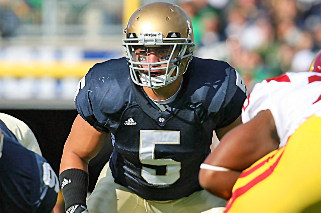 Manti Te'o is considered by many to be one of the best linebackers to ever play at Notre Dame. (Getty Images)