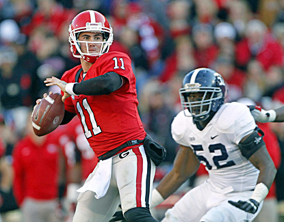 Aaron Murray tosses four touchdown passes as Georgia whips Georgia Southern 45-14. (AP)