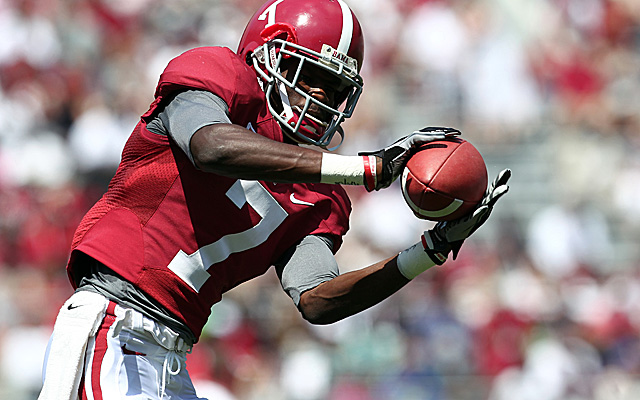 Bell, Alabam's deep threat at wideout, suffered a broken leg vs. Auburn in Week 13. (US Presswire)