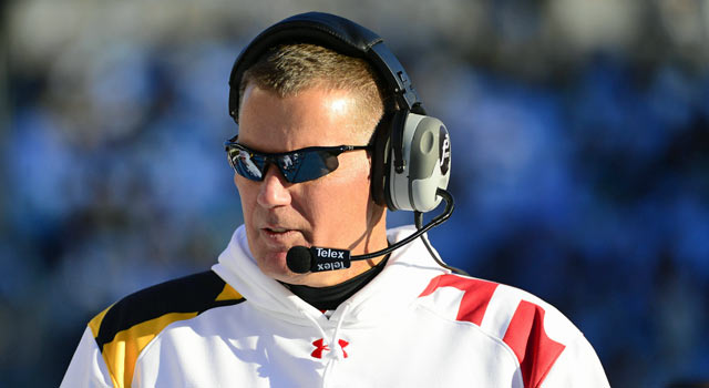 Maryland coach Randy Edsall plans to immediately recruit for Big Ten play. (US Presswire)