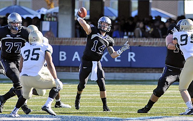 Heinicke finished the year with 5,076 passing yards and also ran for 470 yards. (Photo courtesy of Old Dominion)
