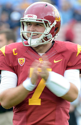 Matt Barkley's tumultuous Trojans career will end in the Sun Bowl. (Getty Images)