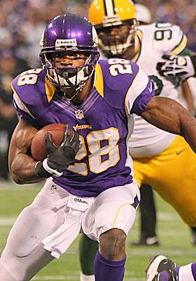 Adrian Peterson has carved up the Vikings for a combined 409 yards in two meetings during the regular season. (Getty Images)
