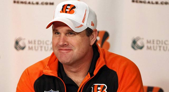 Jay Gruden has been the offensive coordinator for the Bengals for the past two seasons. (US Presswire)