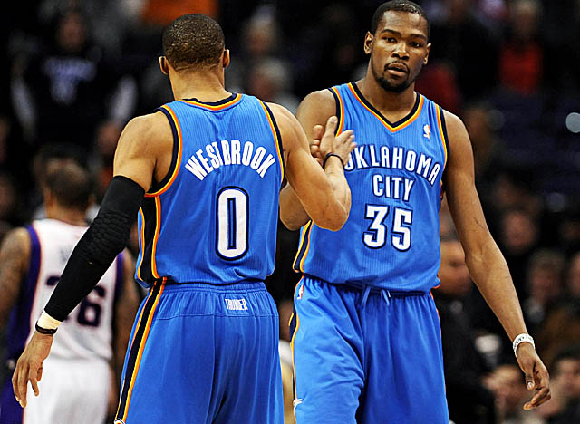 As the NBA's No. 3 and 7 scorers, Durant and Westbrook together average 51.1 points a game. (US Presswire)