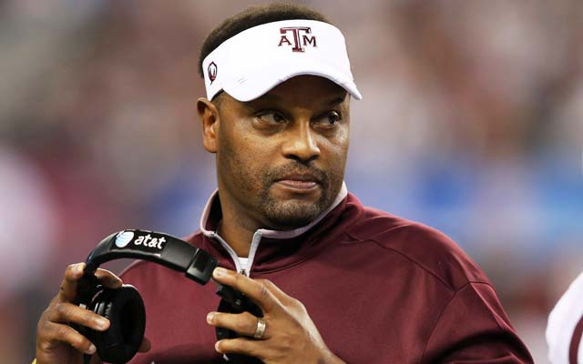Kevin Sumlin wasn't thrilled with Bob Stoops' comments. (USATSI)