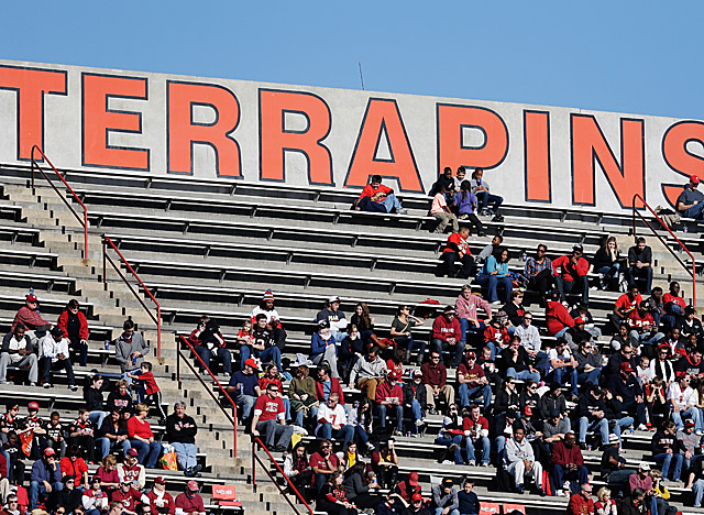 Average attendance for Maryland home games has been among the lowest in the BCS. (Getty Images)