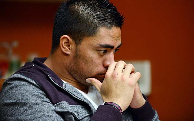 Te'o is set to talk on-camera about his role in the hoax Thursday with Katie Couric. (AP)
