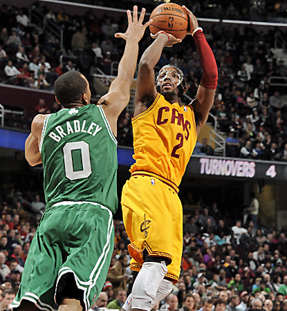 Cleveland's Kyrie Irving scores 15 of his 40 points in the fourth quarter to help the Cavs top the Celtics. (Getty Images)