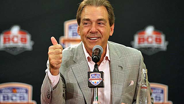 New recruiting rules will help powers like Bama, even though Nick Saban says he's happy without them. (USATSI)